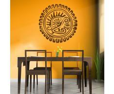 Girasol Azteca Centro de Mesa Pegatina de Pared. Arte de Pared Decorativo disponible en 5 tamaños y 25 colores
