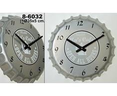 Pide X Esa Boca Mas Café Chapa - Reloj de pared, color gris