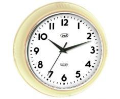 Trevi 3314 - Reloj De Pared De 24,5 Cm De Diámetro Y Diseño Retro Años 60`S - Color Marfil