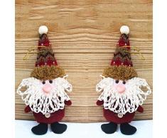 XdiseD9Xsmao Tela De árbol De Navidad Santa Muñeco De Nieve Adornos Colgantes Puerta De Navidad Decoración De Colgar En La Pared Ilumina Esta Navidad 1#