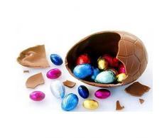Jun 2 pcs día de Pascua huevos moldes Clear Chocolate molde con clips de metal, Chocolate con forma de huevo de dinosaurio grande en 3d molde policarbonato moldes para decoración de Pascua