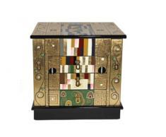 Casa Collection / Art for living by Jänig 10552 - Joyero con tapa con espejo (2 puertas laterales y 3 cajones, 41 x 40 x 30 cm, diseño de Schmalwand de Gustav Klimt)