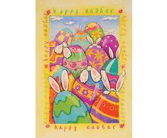DIYCCY Peek a Boo Bunny - Figura Decorativa de Huevo de Pascua con Diseño de Conejo, 27 x 37 cm