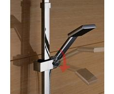 Auralum® Elegante Set de Ducha 20x20cm con Termostato Regulable en Altura y unos 82 a 122cm Alcachofa de la Ducha Incluida. Ducha de Mano + Fucha de Lluvia