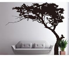 """Rocwart - Adhesivo decorativo para pared, diseño de árbol de Navidad, color negro y pino para sala de estar, habitación de los niños, decoración de pared de guardería, vinilo extraíble para árbol de la familia (87 x 71"""")"""