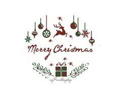 My Weddingshop - Corona de Adviento, decoración navideña en Rojo y Plata, decoración navideña para Navidad o Adviento