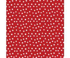 Caspari Inc. - Papel de regalo, diseño de lunares, color rojo y blanco