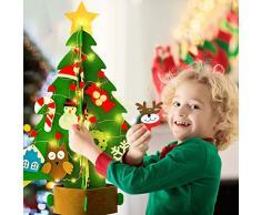 Bageek árbol de navidad de fieltro diy,3D Árbol de Navidad Artificial de Fieltro DIY Fieltro Árbol de Navidad para Niños DIY del árbol de Navidad Decoración