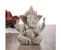 BESPORTBLE 2 Piezas de Arenisca Ganesha Buda Elefante Estatua Escultura Hecha a Mano estatuilla decoración de Escritorio para el día de Halloween Carnaval