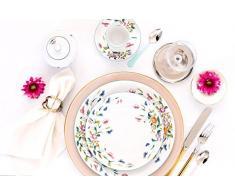 Porcel Florence Plato Pan, Porcelana, Decorado y Blanco, 17 cm