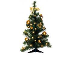Star 004-62 - Árbol de navidad con base, color verde y dorado