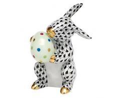 Herend conejo de Pascua figura decorativa medias de color negro