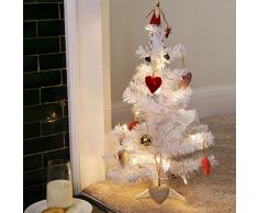 2 pies (60 cm) artificial Árbol de navidad blanco con el soporte