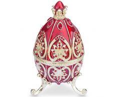 """4,5 """"rojo Royal joya corona esmaltado Faberge inspirado huevos de Pascua"""