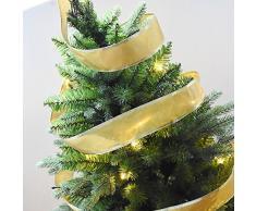 Da.Wa 2m Cintas Decorativas Navideñas para Árbol de Navidad/Cintas de Boda/Decoración Cintas de Partido Adornos de Navidad