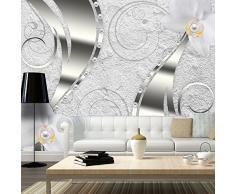 Fotomural 400x280 cm ! Papel tejido-no tejido. Fotomurales - Papel pintado abstracción flores a-A-0127-a-a
