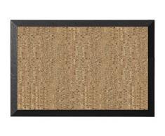 Bi-Office Kamashi - Tablón corcho natural, 60 x 45 cm, color negro