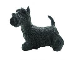 Leonardo Collection figura decorativa de TERRIER escocés perro, piedra, negro
