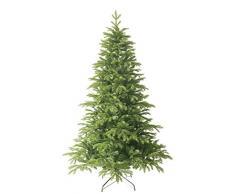 Forever Green Premium 958802 Anson árbol de Navidad artificial, PVC plus PE, H D 210 x 135 cm, 1,836 puntas, soporte metálico, verde