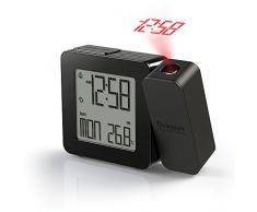 Oregon Scientific RM338P - Reloj proyector con temperatura interior (Digital, AA, Negro)