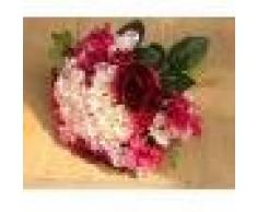 Ramo de Flor Artificial Hortensia Rosado Decoración para Boda Novia Nupcial