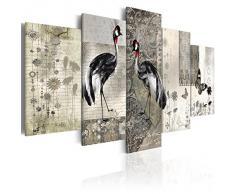 Cuadro 200x100 cm! 5 partes - Grande Formato - Impresion en calidad fotografica - Cuadro en lienzo tejido-no tejido - ANIMALES 020116-34 200x100 cm B&D XXL