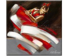 PASION I - obra artistica sobre madera , Kitty Meijering , tamaño 70 x 70 cm , tema laminado en un marco de madera (MDF), bordes pintados a mano, hogar y cuadros , cuadro listo para colgar, baile y movimiento