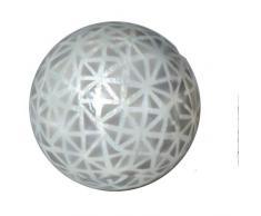 Hogar y Más - Bola Decorativa de nácar con diseño geométrico France - A