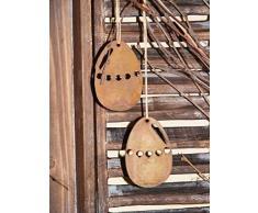 Huevo de pascua para colgar en Pátina, Decoración de pascuas con Silbato