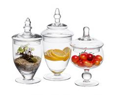 3 piezas juego de troqueles con forma de botes de cristal decorativo/centro de mesa de boda/Candy botellas de almacenamiento - Mi regalo