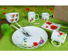 Novastyl 8010356 con diseño de juego de 6 el campo de porcelana con platos de 21 cm x 21 cm x 2 cm