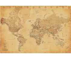 Empire 172143 - Póster de mapa mundi estilo vintage (91,5 x 61 cm)
