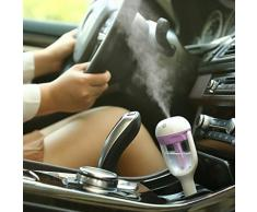 SMARTLADY Auto Mini Humidificador Coche Hidratante Spray de Aire Purificador de Aire Ambientador (Púrpura)