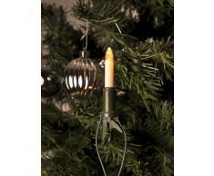 Konstsmide 1068-010 - Guirnalda LED para el árbol de navidad (velas de luz, 10 diodos de blanco cálido, 230 V, 1 W, para interiores)