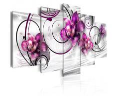 murando - Cuadro en Lienzo 200x100 cm Flores Impresión de 5 Piezas Material Tejido no Tejido Impresión Artística Imagen Gráfica Decoracion de Pared 020110-146