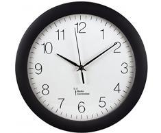 Hama 00106936 PG-300 - Reloj analógico de pared controlado por radio negro