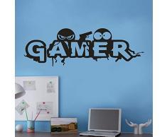 Etiqueta de la pared de wallpaper de BaZhaHei, Gamer extraíble arte vinilo mural Home Room Decor pegatinas de pared del Etiqueta de la pared de conveniente para la decoración de muebles hogar