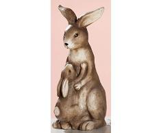 dekojohnson Figura Decorativa de Conejo de Pascua, Resistente a la Intemperie, decoración de jardín, decoración de Pascua, Color marrón, Sentado, 40 cm