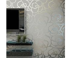 hanmero m d romntico moderno diseo flores rayas papel pintado papel de pared tv teln de