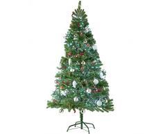TecTake Árbol de Navidad Artificial con Soporte Metálico - disponible en diferentes colores y tamaños - (180 cm | 742 Ramas | Verde | No. 402823)