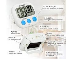 Mudder Digital Temporizador de Cocina con LCD Pantalla, 2 Piezas