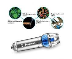 Coche purificador de aire iónico, ambientador de aire, ionizador, limpiador, purificador de aire, elimina Polvo, Pollen, humo, Ideal para automóvil o RV y coche regalo 12 V