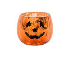 Vaso para vela de calabaza de Halloween