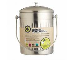 Kitchen Craft - Papelera de Acero Inoxidable para Compost (5 L)