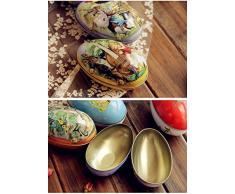 1 pcs gran conejo huevos de Pascua hierro recibir caja Candy CAJA DE ALMACENAJE boda Favor caja de lata Cable organizador contenedor hogar, otros, style 5, 11*6.5*7cm