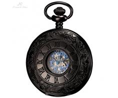 KS Reloj de Bolsillo, Mecánico, Analógico, Caja Azul KSP032