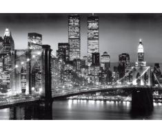 Empire 105530 Nueva York - Póster de Manhattan y del puente de Brooklyn en blanco y negro (91,5 x 61 cm)