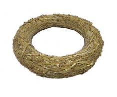 Corona de Navidad de madera y paja de 20 cm/3 cm