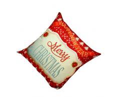 RETUROM Popular de la Navidad caja de la almohadilla del sofá de la cintura Throw Cojín Decoración (Rojo)