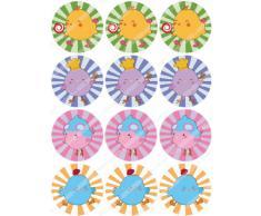 12 x Cakeshop decoración para pasteles comestibles PRECORTADAS de Pollito de Pascua